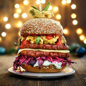 The ultimate Mealtess Farm Christmas burger