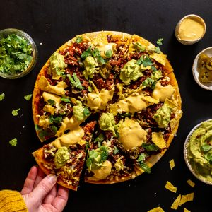 One Planet Pizza Meatless Farm taco pizza