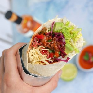Mark Cavendish's Meatless Farm Power Burrito